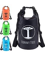 Funny Tree® Dry Bag. Wasserfester (IPx6), optimierter Packsack 20L / 10L. Als Camping Zubehör | Schlauchboot | Kajak | Rafting | Kanu | Schwimmen | Strand | Bootfahren | Camping