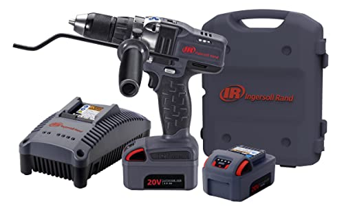 Ingersoll Rand D5140-K2 1/2-Inch Cordless Drill Driver, Charger, 2 Li-ion Batteries and Case Kit