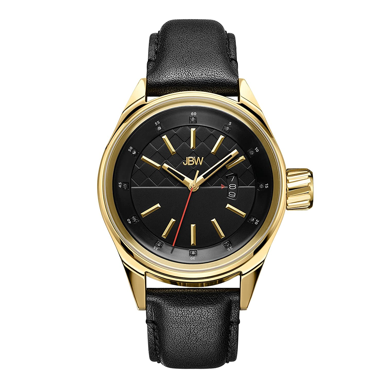 JBW Men 's j6287 F Rook Analog Display Japanese Quartz Blue Watch 標準 ブラック/ブラック B00I5G3IJ6  ブラック/ブラック