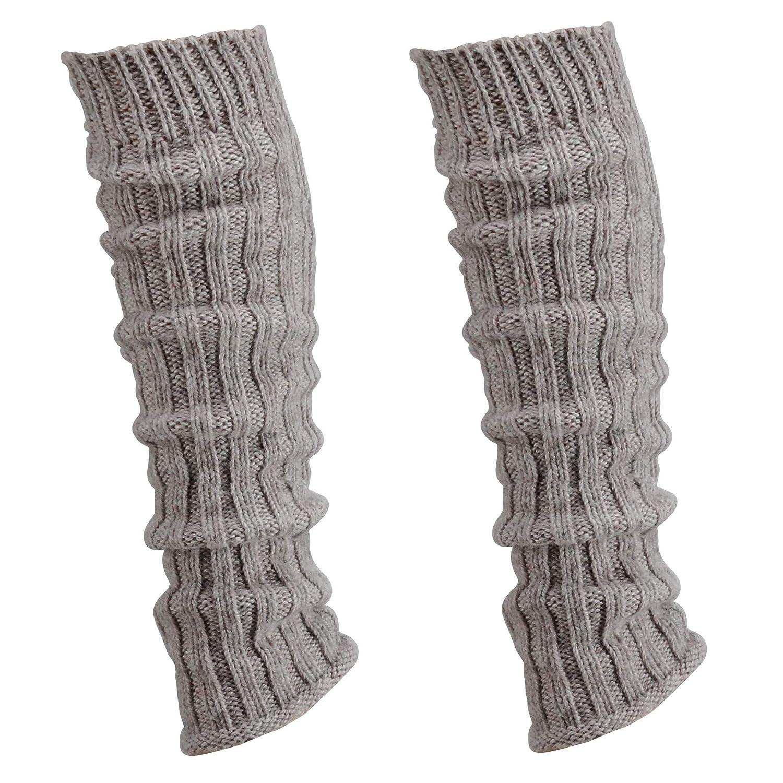 colori: nero in lana di alpaca quantit/à: 1 soffici Scaldamuscoli per gambe 30 cm 2 o 4 paia di scaldamuscoli grigio anni 80 da donna e ragazza bianco a maglia grossa krautwear/® beige