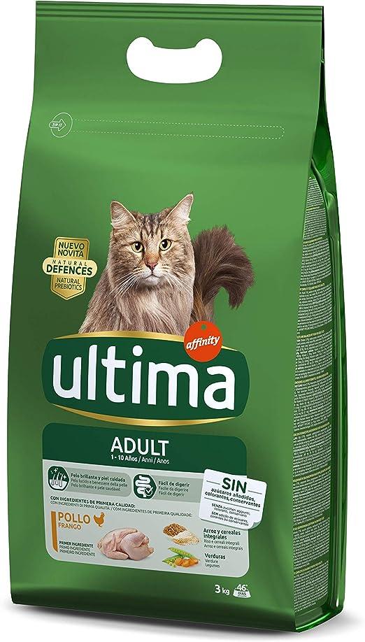 ultima Pienso para Gatos Adulto con Pollo: Amazon.es: Productos ...