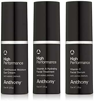 Anthony - High Performance Vitamin A Hydrating Facial Lotion -50ml/1.6oz Burts Bees Lip Shine, Blush [020] 0.5 oz (Pack of 2)