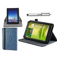 "Navitech 7 Zoll blaues Leder Book Style Folio Case / Cover / Hülle mit Stylus Pen für das Kindle Fire HD 7"", HD Display, Wi-Fi, 8 GB"