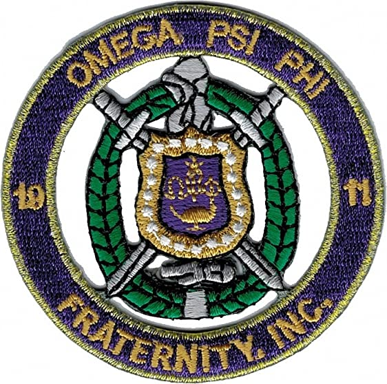 Amazon Omega Psi Phi Fraternity Inc Round Cut Out Iron On