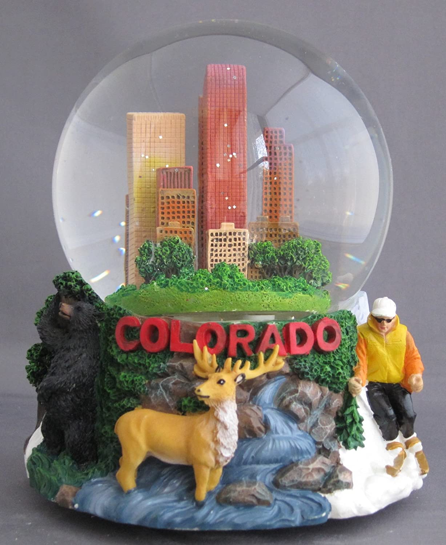 Musical Colorado Souvenir Snow Globe 100mm CADONA