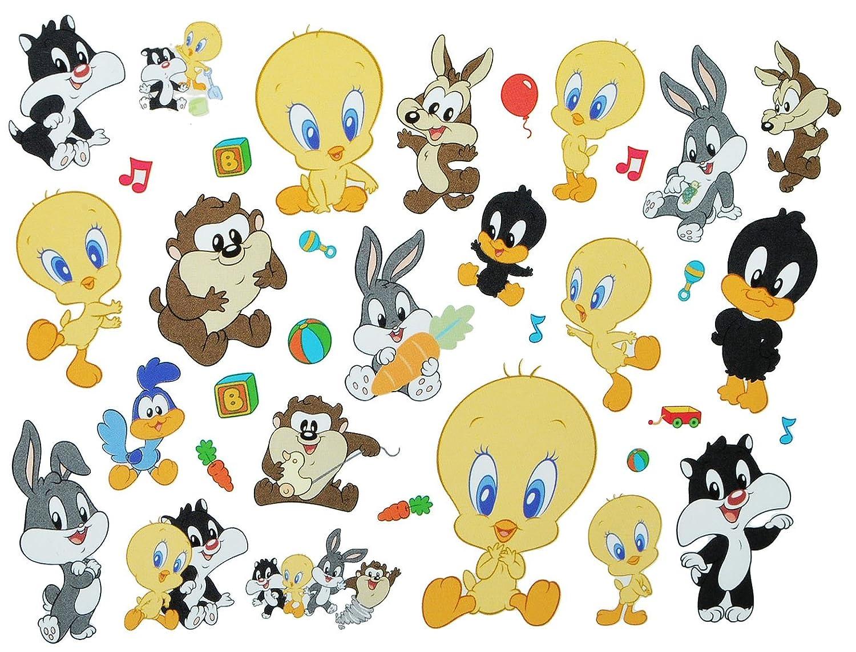 35 tlg. XL Set: Wandtattoo / Sticker - Baby Looney Tunes Tweety ...