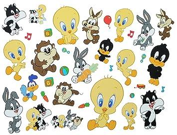 Unbekannt 35 Tlg Xl Set Fensterbilder Sticker Baby Looney