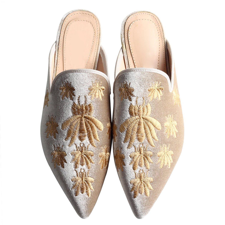 gris QIN&X Chaussures Femmes Sandales Talon Bas 43 EU