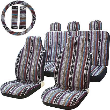 Stripe Multi-Color Bucket Seat Cover - Innovative Material