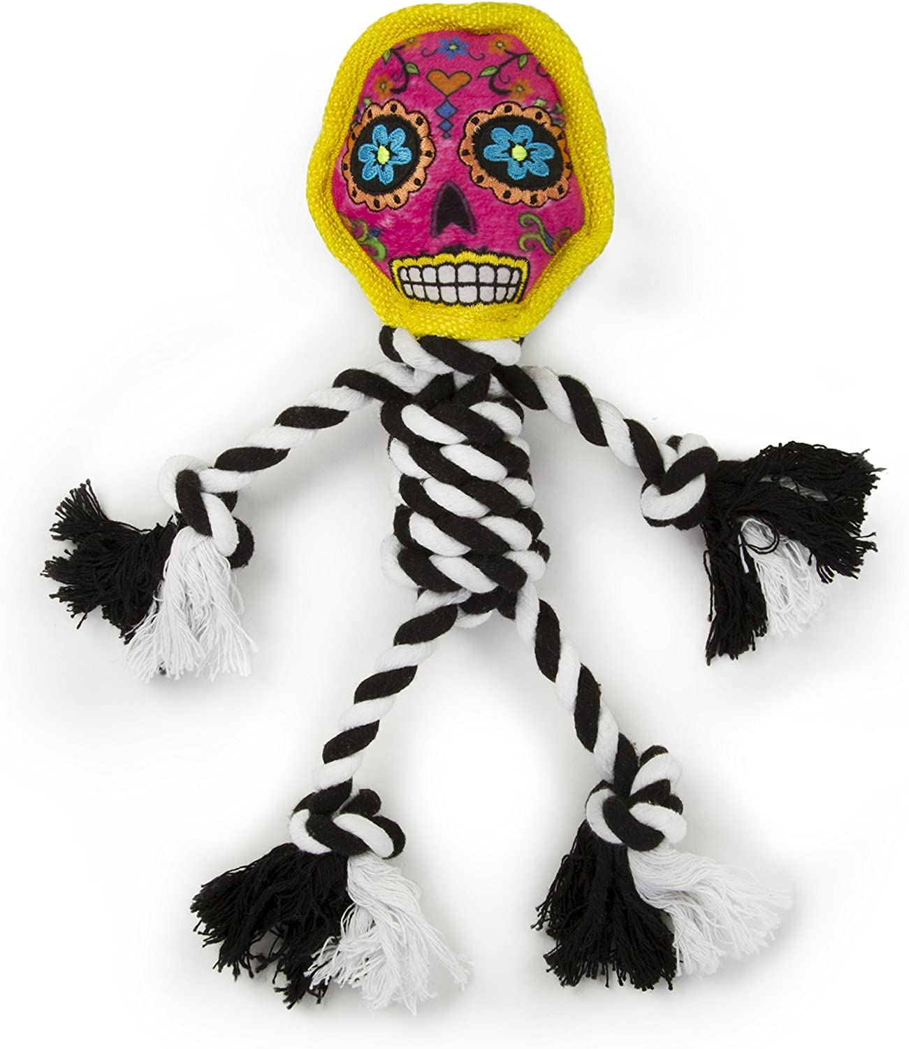 Moonmoon goDog Sugar Skulls with Chew Guard Technology Rope