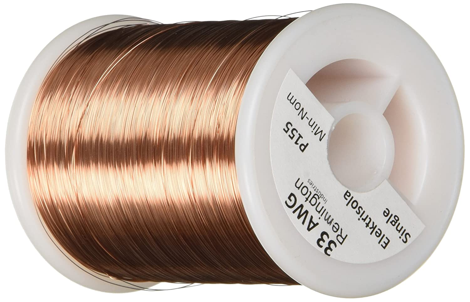 Remington industries 33snsp 33 awg magnet wire enameled copper wire remington industries 33snsp 33 awg magnet wire enameled copper wire 10 lb 00077 diameter 6352 length natural copper metal raw materials greentooth Image collections