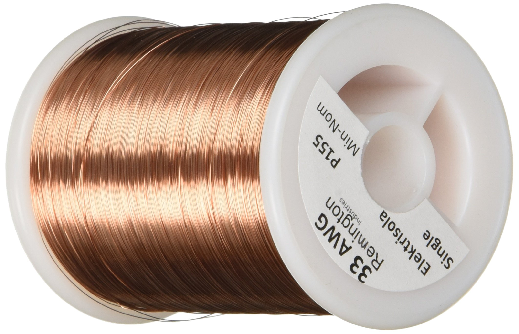 Remington Industries 33SNSP 33 AWG Magnet Wire, Enameled Copper Wire, 1.0 lb, 0.0077'' Diameter, 6352' Length, Natural