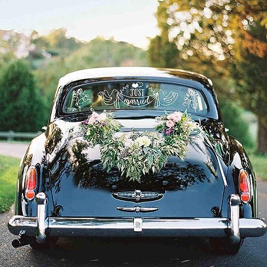 Konsait Just married Pegatinas de vinilo para coche boda decoración (paquete de 2): Amazon.es: Juguetes y juegos