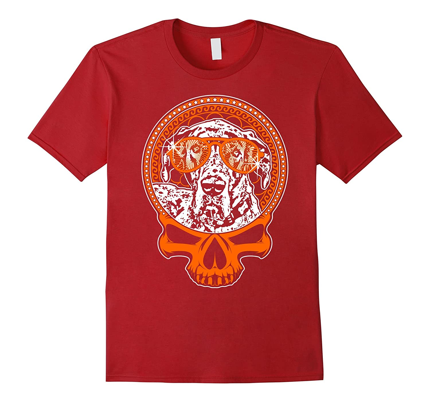 Great Dane Skull Tee T Shirt Short Sleeve Halloween-BN