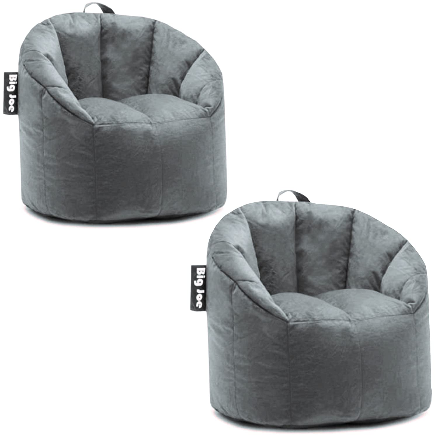 Groovy Big Joe Milano Bean Bag Chair Gray Plush 32 X 28 X 25 Short Links Chair Design For Home Short Linksinfo