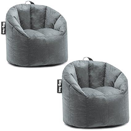 Wondrous Big Joe Milano Bean Bag Chair Gray Plush 32 X 28 X 25 Ibusinesslaw Wood Chair Design Ideas Ibusinesslaworg