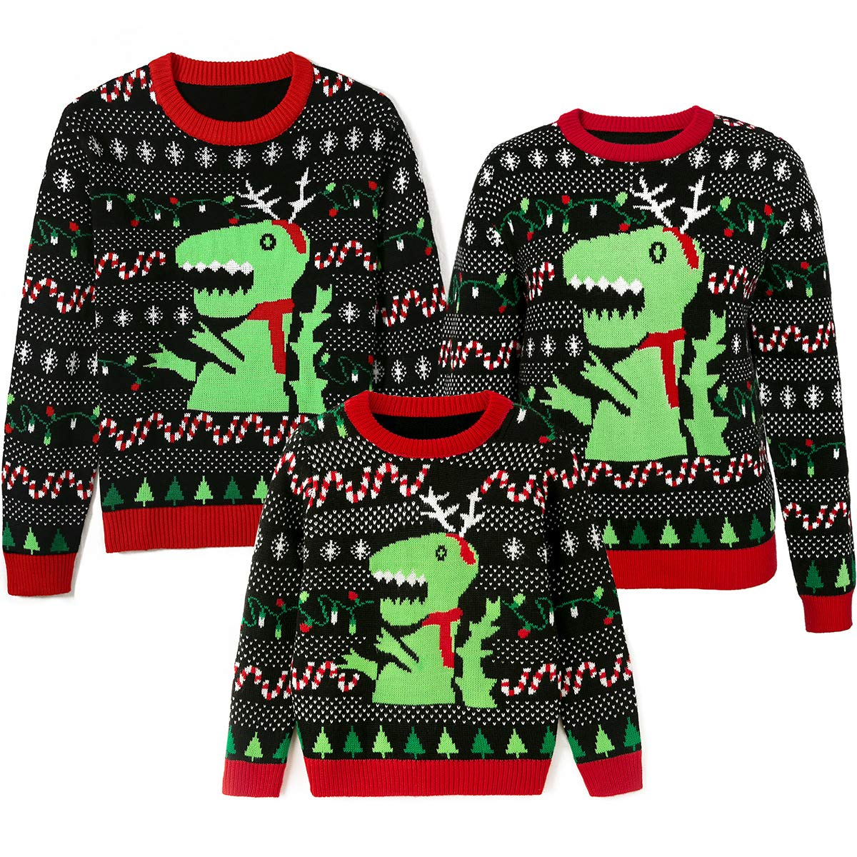 Simplee kids Ugly Christmas Sweater Family Matching Outfits for Holiday Party Knitted Pullover for Winter 3T Kids by Simplee kids