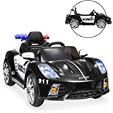 Best Choice Products 12V 2-Speed Kids Police Sports Car Ride On w/ AUX Port, Parent Remote Control, Working Intercom…