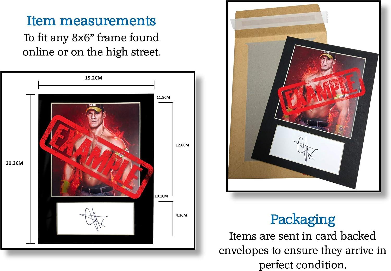 Maschinenschnitt Geschenk Sammlerst/ück Fotoanzeige Signierter Fotodruck A5 Gr/ö/ße passend f/ür 6x8 Zoll Rahmen KALISTO WWE