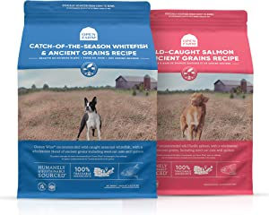 Open Farm Catch-of-The-Season Whitefish and Wild-Caught Salmon Ancient Grains Dry Dog Food Bundle, Made with Wholesome Grains and No Artificial Flavors or Preservatives