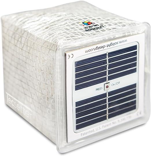 Solight Solar Twilight Tragbar LED Aufblasbar Laterne Warm Weiß