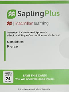 Solutions and problem solving manual to accompany genetics a saplingplus for genetics a conceptual approach one term homework with twenty four fandeluxe Images