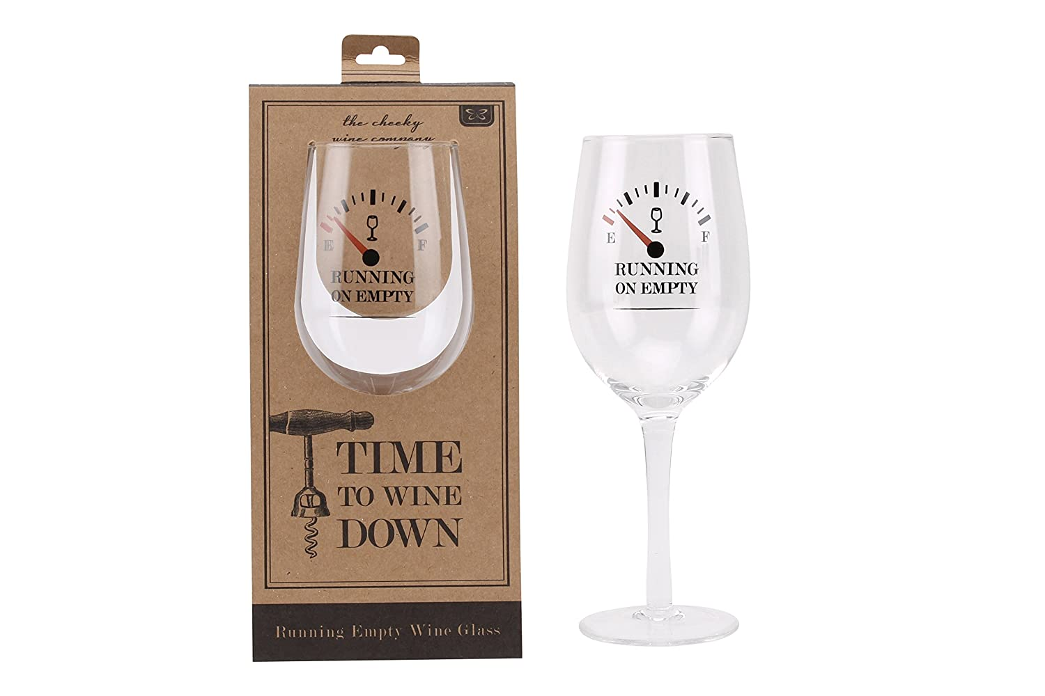 Add Your Own Personalised Running On Empty With Guage Large Wine Glass