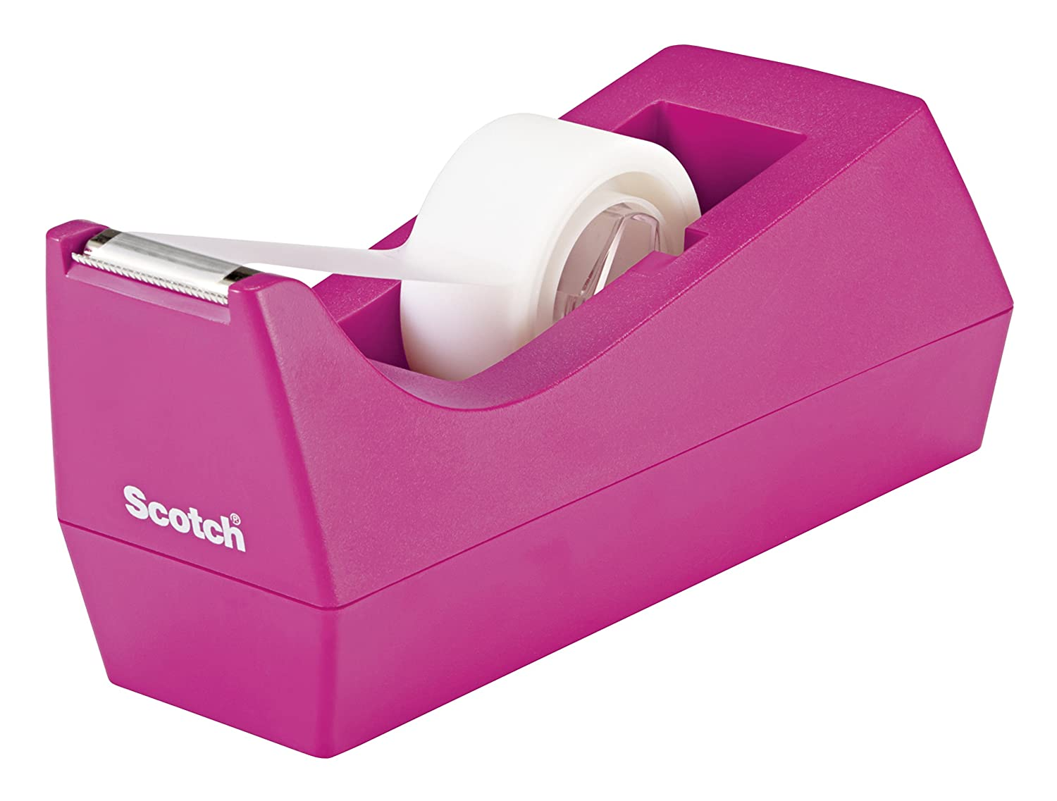Scotch Classic Desktop Tape Dispenser, Pink, for 1-Inch Core Tapes (C-38-P) 3M