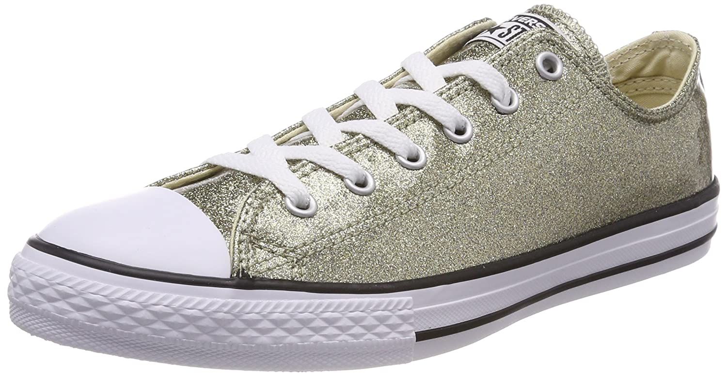 Converse Unisex-Kinder CTAS OX Fitnessschuhe  28/29 EU|Gold (Gold/Natural/White 710)