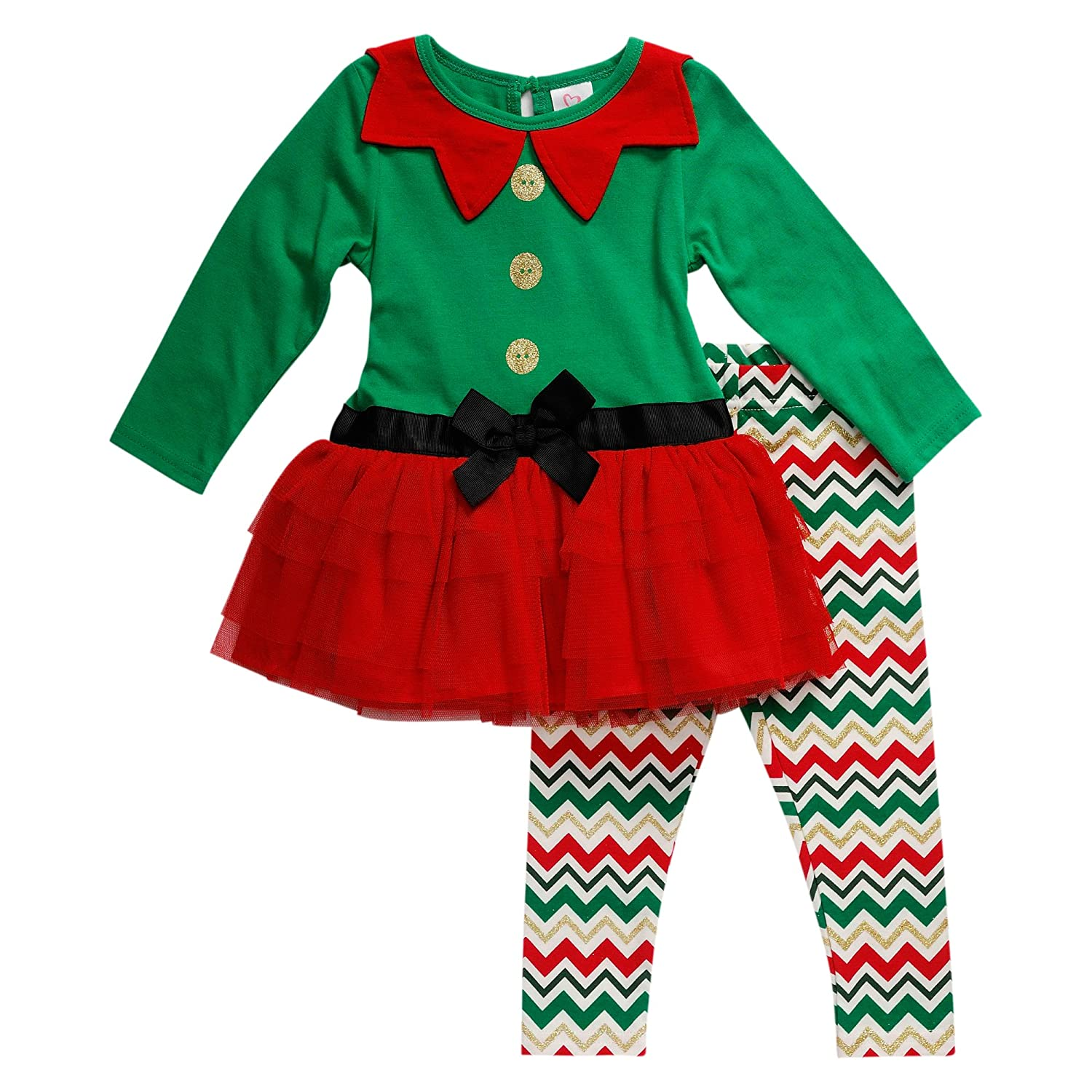 Amazon Com Youngland Baby Girls Elf Tutu Dress And Legging Clothing