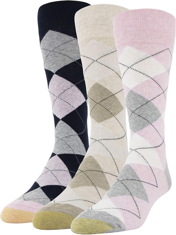 Gold Toe mens Carlyle Argyle Crew Socks, 3 Pairs