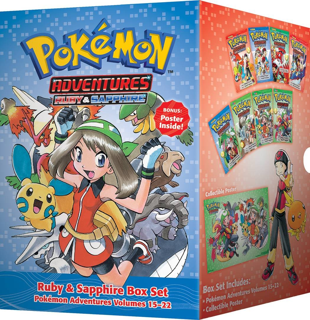 Pokémon Adventures Ruby & Sapphire Box Set: Includes Volumes 15-22 (Pokemon) by VIZ Media - Children's