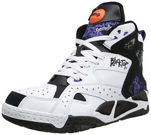 9fbc1950d464 Reebok Blacktop Battleground Basketball Shoes White Size  11 UK ...