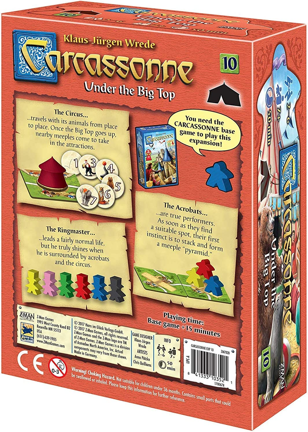 Carcassonne Under the Big Top Expansion 10: Amazon.es: Juguetes y juegos