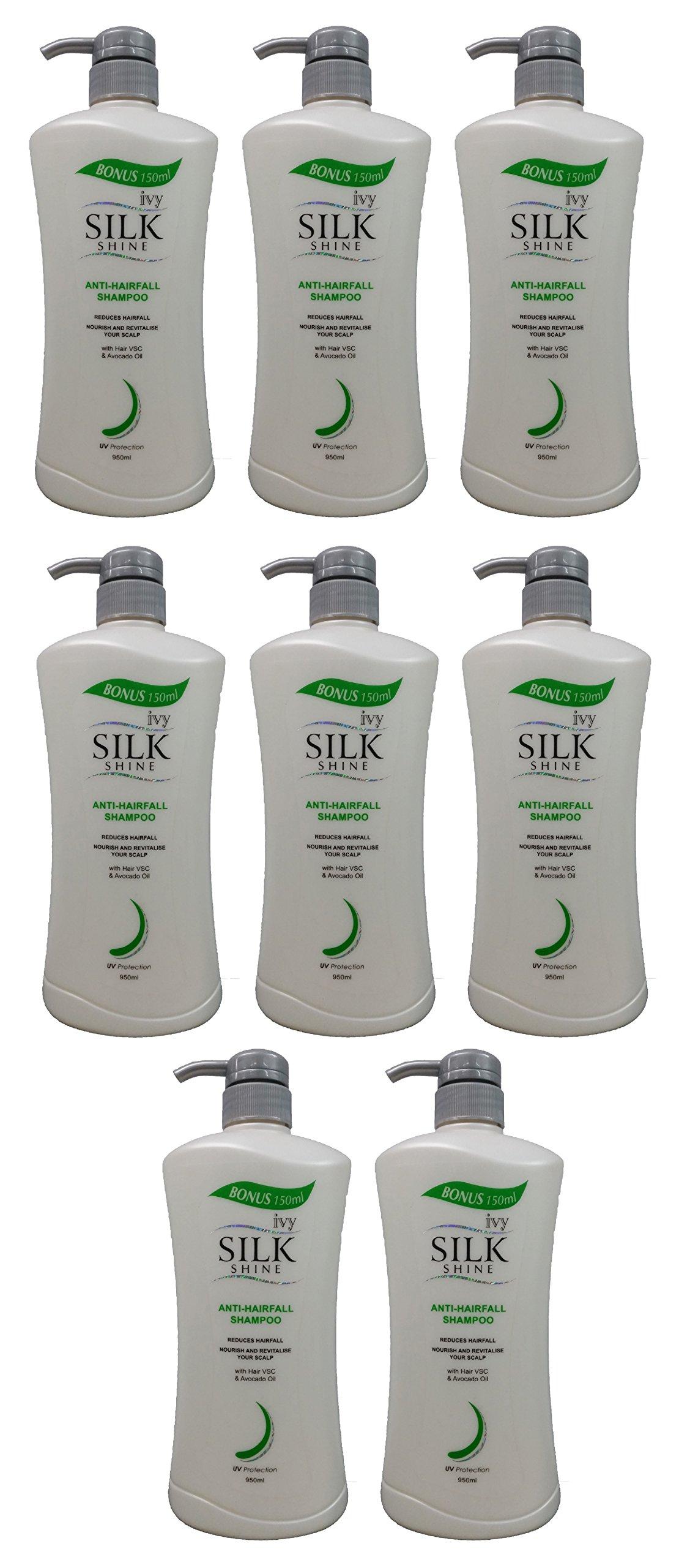 AWARD-WINNING 8 BOTTLES Ivy Silkshine ANTI-HAIRFALL & SCALP CARE Daily Hair Shampoo (950ml / 32 fl oz) by Leivy – Reduce Hairfall, Promote Healthy Scalp, Repair Damage, Moisturizing –GET IN 1 WEEK