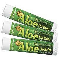 3-Pack SPF-15 Sunscreen Aloe Lip Balm | With Pure UltraAloe Aloe Vera Gel | Each...