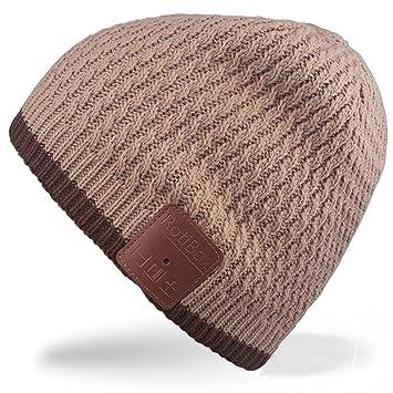 Bluetooth gorro, Rotibox invierno al aire libre Premium Knit Cap con altavoz estéreo de auriculares ...