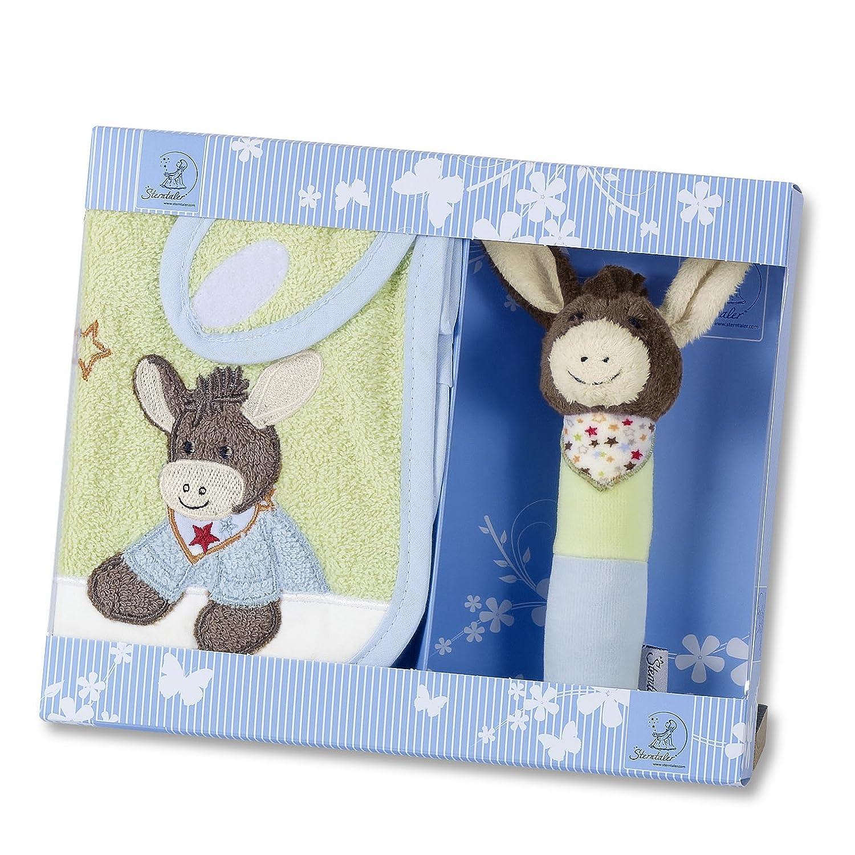 Waschhandschuh Mini-Spieluhr Grau//Gelb Sterntaler Geschenk-Set Ente Edda Alter: ab 0 Monaten Kinderhandtuch