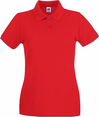 Fruit of the Loom Lady-Fit Premium Camiseta Polo: Amazon.es: Ropa ...
