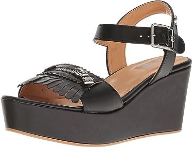 bcfda846c5a Amazon.com  LOVE Moschino Women s Fringe Platform Black Sandal  Shoes