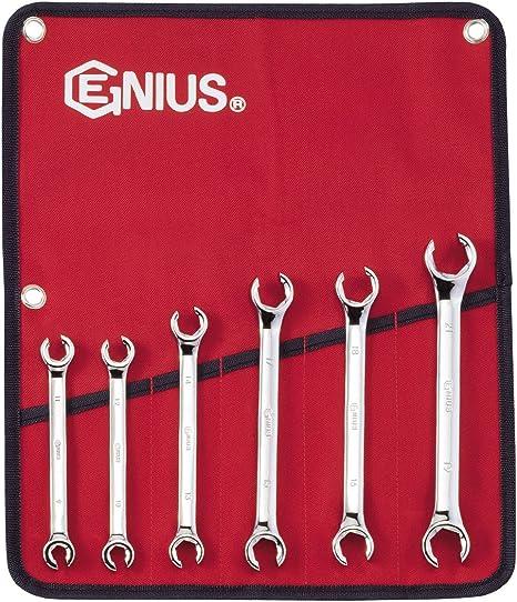 Genius Tools 6PC Metric Flare Nut Wrench Set FN-006M