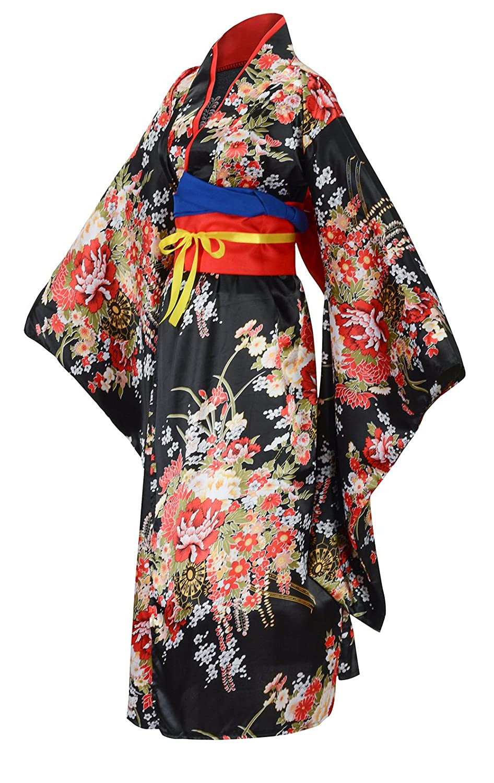 Amazon.com  Sheface Women s Gorgeous Japanese Traditional Satin Kimono Robe  Costumes  Clothing ed701de6d
