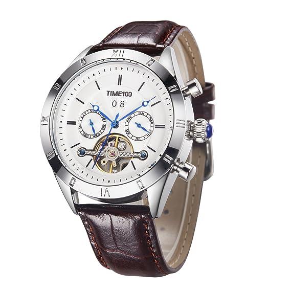 Time100 2018 reloj hombre pulsera Reloj mecánico automático resistente al agua 5 Bar (19)