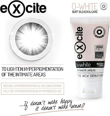 EXCITE O-WHITE Crema blanqueadora corporal piel íntima mujer y hombre. Aclara, blanquea y cuida la piel de axilas, entrepierna y tus partes más íntimas. 50 ml.