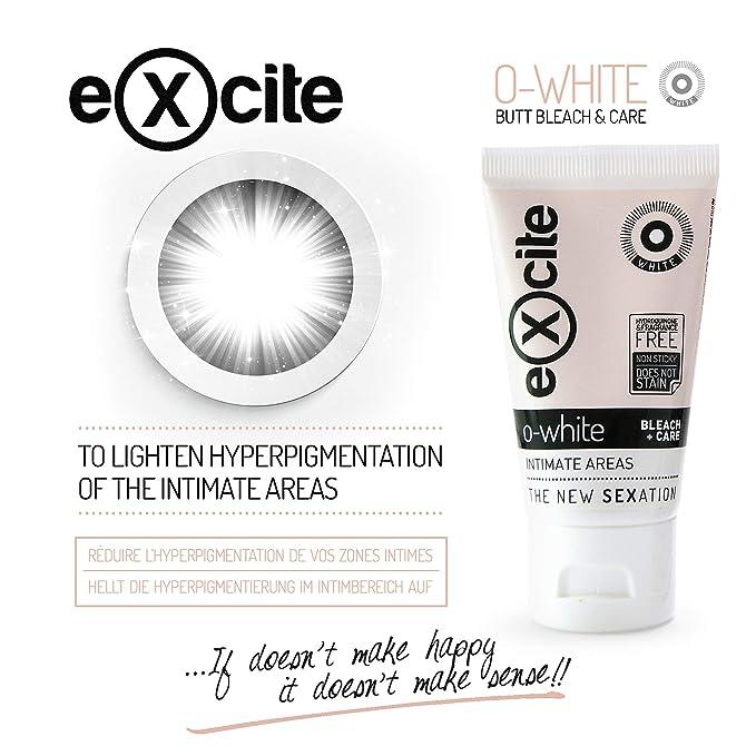 EXCITE O-WHITE Crema blanqueadora corporal piel íntima mujer y hombre. Aclara, blanquea y cuida la piel de axilas, entrepierna y tus partes más ...