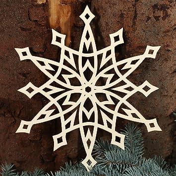 Bütic GmbH Stern Fensterbilder   Deko Aus Holz Und Acrylglas Für  Weihnachten, Weihnachtsschmuck:Fensterschmuck