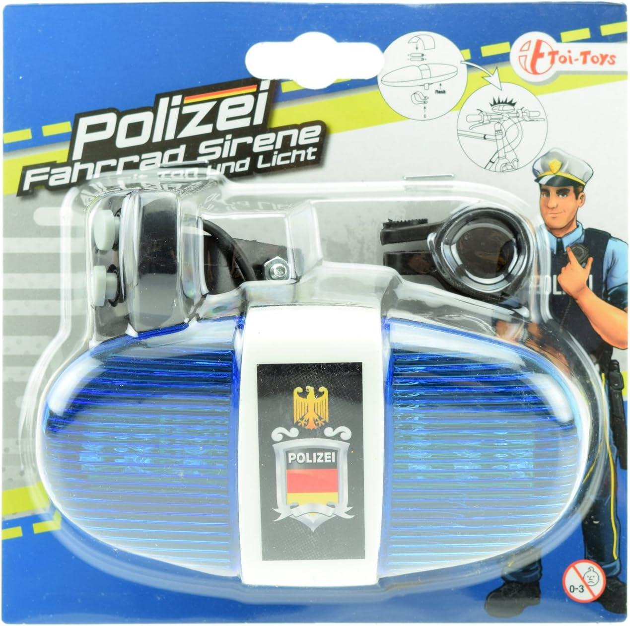 Toi-Toys–Policía iluminación Accesorios para Bicicletas y vehículos, 55008
