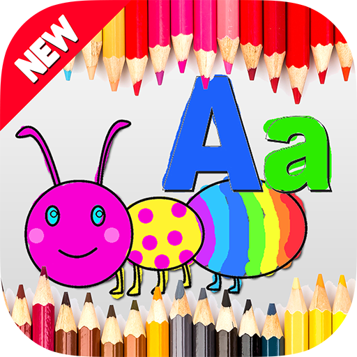 Kids Coloring Abc Animals   Preschool Alphabet Letter A To Z