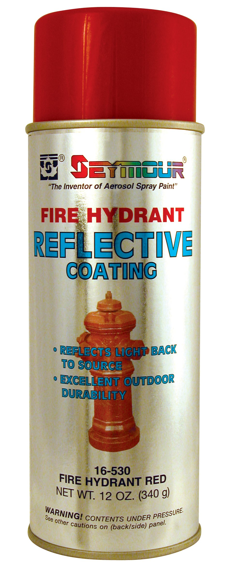 Seymour 16-530 Reflective Water-Based Coatings, Fire-Hydrant Red