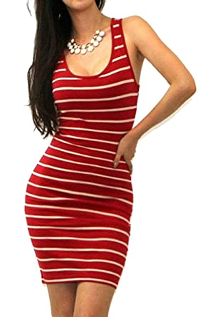 Goodfans Bodycon Dressmini Dressstriped Dress Mini Dress Sexy